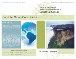 Brochure Mineral Exploration Consultants Page 1